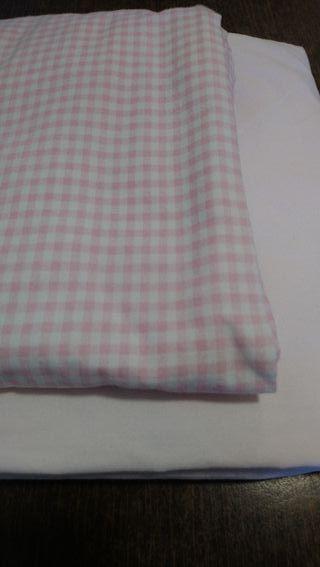 sábana bajera cuna rosa