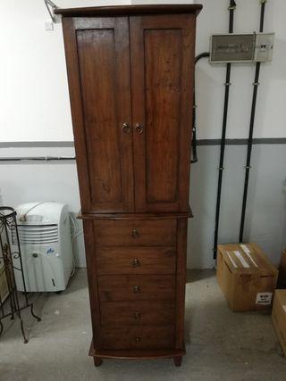 Mueble tocador con joyero y espejo