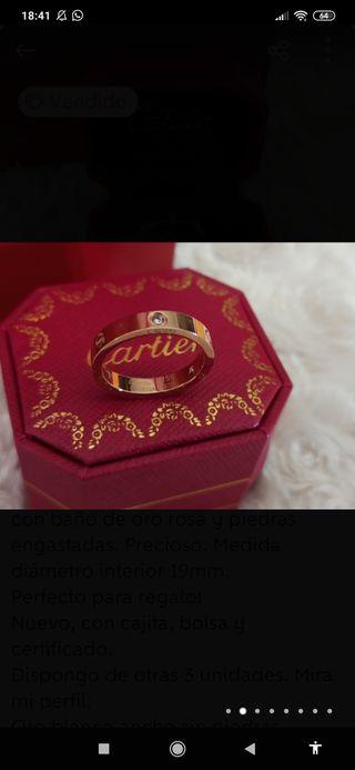 Anillo alianza unisex CARTIER LOVE oro rosa