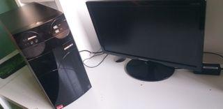 Ordenador sobremesa y Monitor