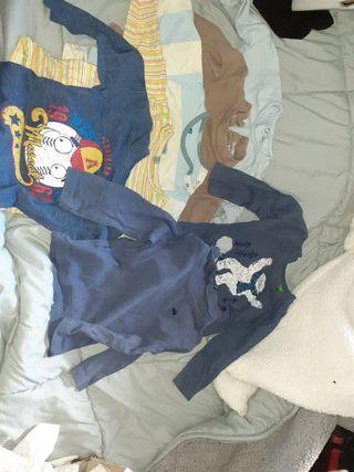 lote de camisetas 12 - 18 meses