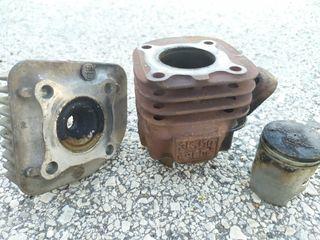 Culata, pistón y cilindro Yamaha Yog R de aire