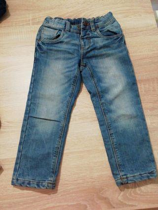 pantalon tejano niño con forro talla 5