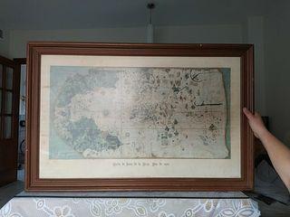 antigua carta de navegación de Juan de la Cosa
