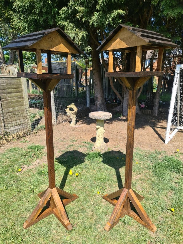 Bird feeding table
