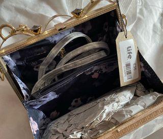 Peach accessories bag
