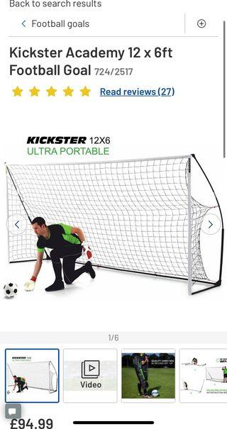 Kick start Academy Ultra portable goal