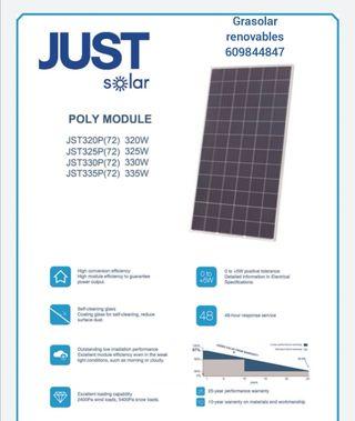 placa solar 330w policristalina 72 celulas)