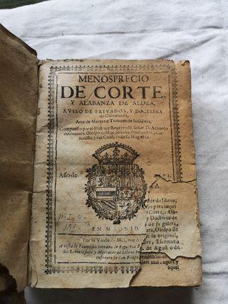 Libro Menosprecio de Corte Alabanza de Aldea 1673