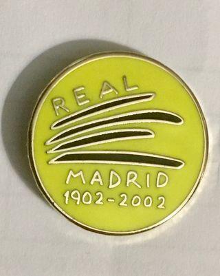 Pin centenario Real Madrid 1902-2002