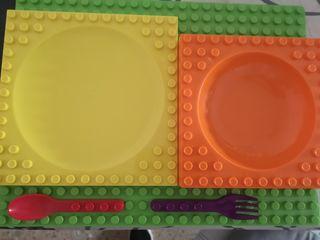 vajilla niños lego