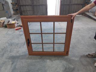 Ventana Aluminio color madera
