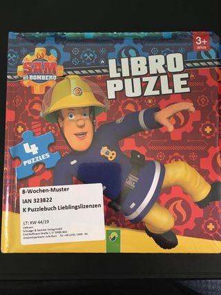 """Libro Puzzle niño """"SAM EL BOMBERO"""""""