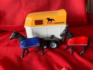 Playmobil remolque con caballos