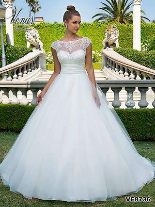Vendo vestido de novia de la talla 40.