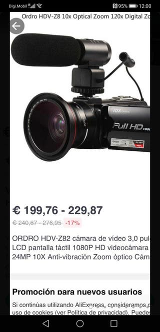 Videocámara 4K ORDRO