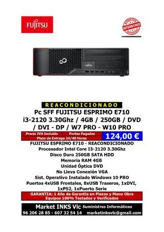 ORDENADOR REACONDICIONADO FUJITSU ESPREMO E710