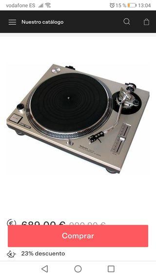 plato giradiscos dj technics sl 1200 mk2