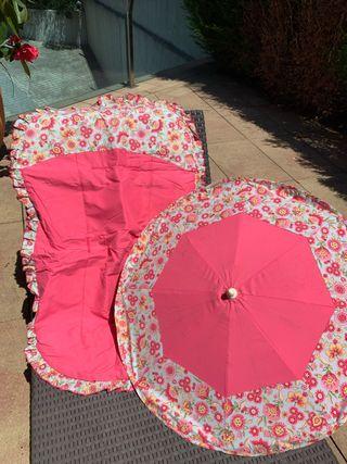 67 cm x 47 cm x 67 cm Fabricado en Piqu/é Rosa Sombrilla Universal Rosy