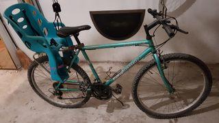 bicicleta con silla portabebe niños niñas
