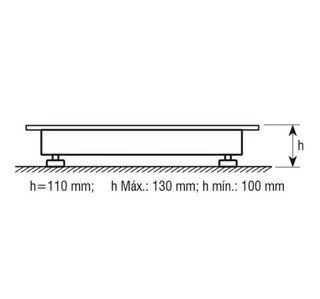 Báscula industrial plataforma 1000/2000/3000 kg