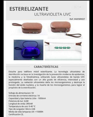 Estuche esterilizante ultravioleta para desinfecta