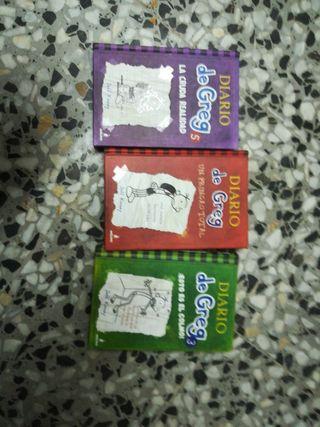 libros diario de greg (los 3 por 10€)