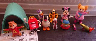figuras Disney,Alvin, pingu, dibujos animados