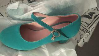 zapatos de tacón verdes