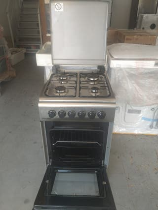 Cocina U. Blue Inox 4 Fuegos + Horno