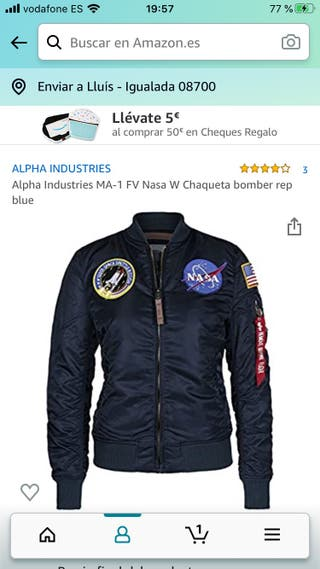 ALPHA INDUSTRIES BOMBER MUJER