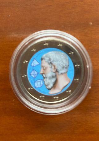 Moneda 2 euros Grecia en color