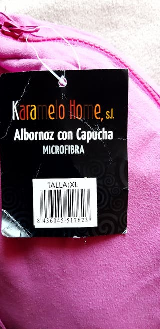 albornoz con capucha microfibra,Karamelo