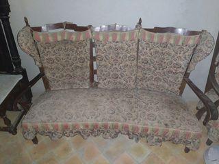 banqueta y sillas antiguas vintage