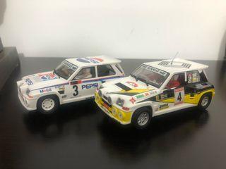 2 Renault 5 maxi scalextric