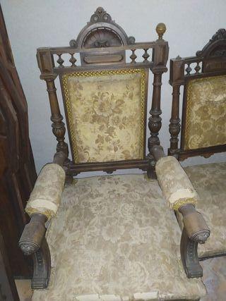 sillas y sillon antiguas y antiguo vintage