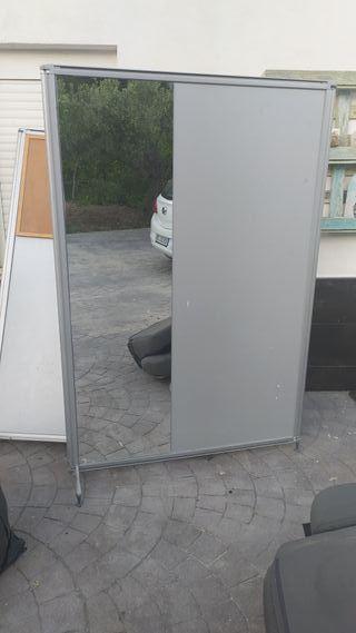 Biombo/mampara con espejo de oficina