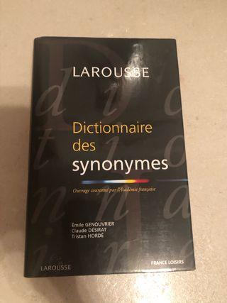 Diccionario de sinónimos francés