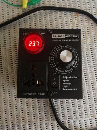 regulador voltaje velocidad