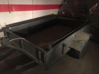 Batea plataforma de un eje