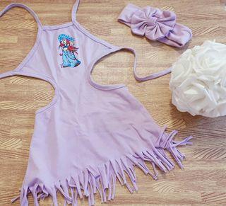 vestido nuevo 18 meses + felpa color lila conjunto