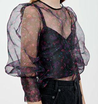 blusa organza