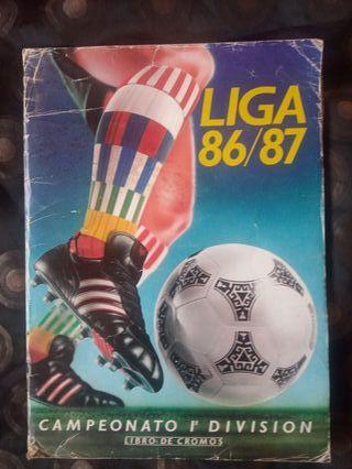 Album cromo liga 86/87