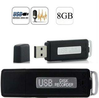 PENDRIVE ESPIA VOZ 8GB 150H dictáfono grabadora