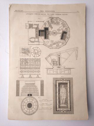 Litografía de 1871, Columna Vendôme de París