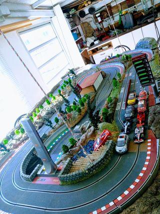 maqueta diorama scalextric digital elevable