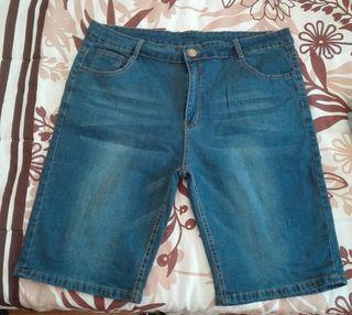 Pantalón vaquero corto hombre XL