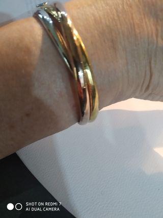 Pulsera plata con baño oro