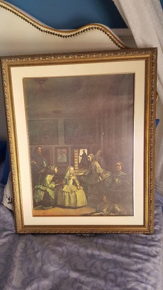 cuadro lamina las Meninas de Velazquez