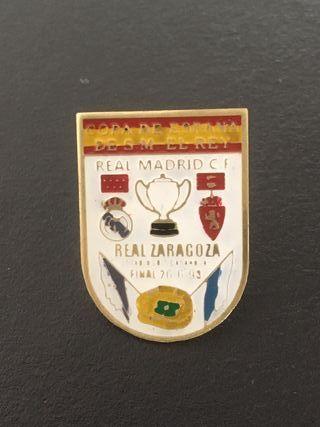 Pin Copa Rey Real Madrid - Real Zaragoza 1993